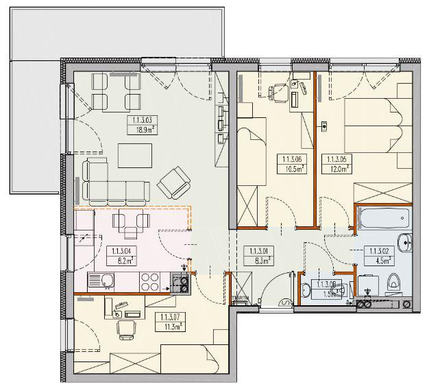 Mieszkanie 4-pokojowe