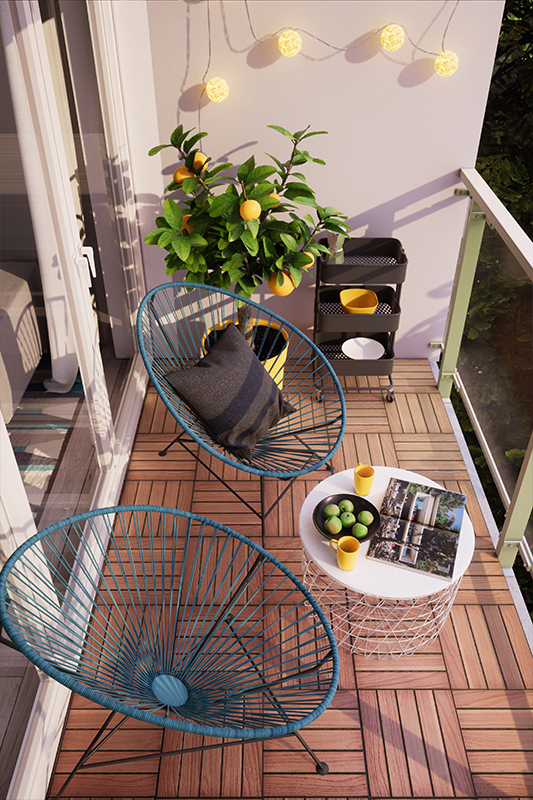 aran acja du ego balkonu za 2 000 z archicom blog. Black Bedroom Furniture Sets. Home Design Ideas